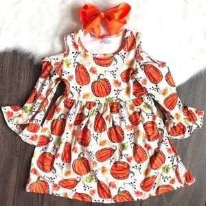 Other - Toddler Girl Pumpkin Boutique Dress Set